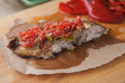 Italian Romesco with Red Snapper
