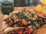 Fresh Herb Chimichurri Chicken Kabobs