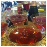 Pomegranate Champagne Martini