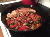 Cast Iron Pork Tenderloin with Vegetables and Bacon