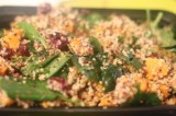 Quinoa with Butternut Squash and Spinach Salad