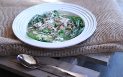 Quinoa Chicken and Spinach Soup