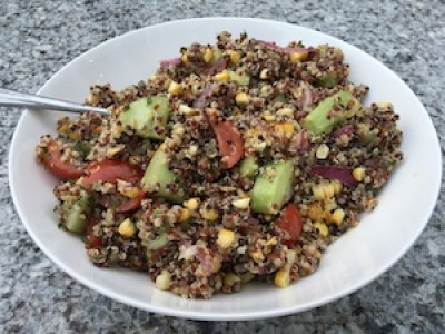 Tri-Colored Quinoa Salad with Seasonal Vegetables