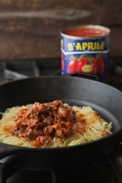 Spaghetti Squash with a Chicken Ragu