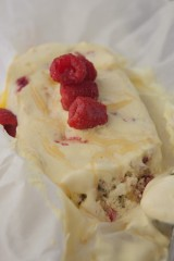 Raspberry and Pistachio Semifreddo