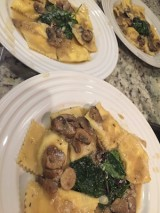 Homemade Ravioli with Pecorino  and Truffle