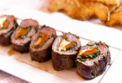 Vegetable Stuffed Beef Tenderloin