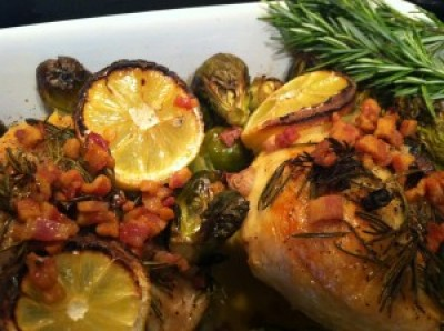Rosemary Chicken with Brussel Sprouts