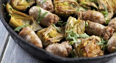 Sausage and Artichoke Sauté
