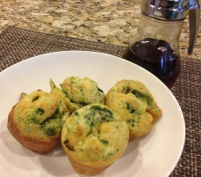 Sausage and Spinach Breakfast Popovers