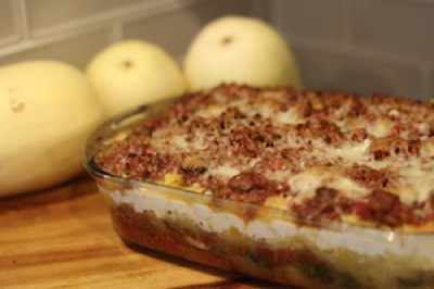 Really Big Loaded Spaghetti Squash Lasagna