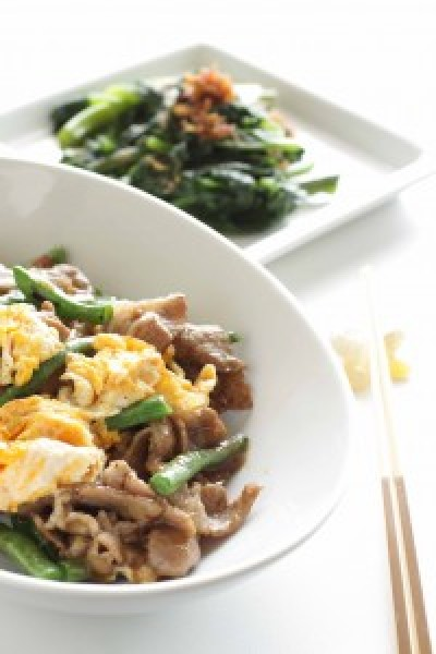 Stir Fry Pork with Green beans and Egg