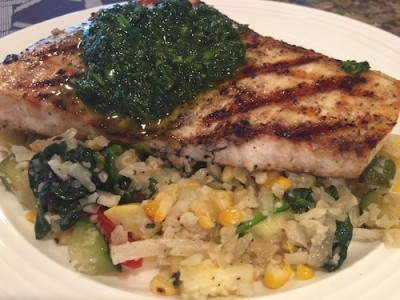 Grilled Swordfish with Chimichurri and