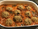 Eggplant and Tempeh Meatballs