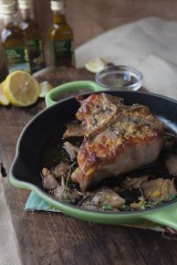 Lemon Zest and Capers Veal Chops