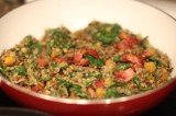 Vegetable and Bacon Lentils