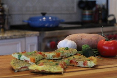 Zucchini, Sweet Potato and Tomato Frittata